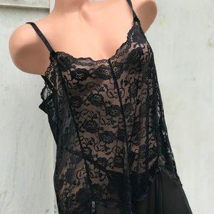 Other - Black lace camisole slip dress nightie lingerie